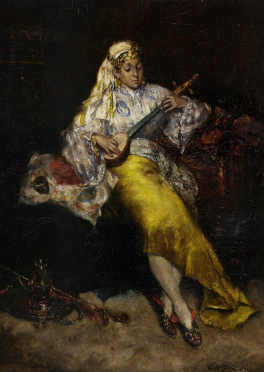 The Entertainer :: Charles Auguste Emile Durand - Arab women ( Harem Life scenes ) in art  and painting фото