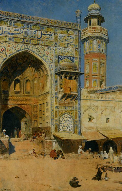 Jumma Musjed - Lahore India :: Edwin Lord Weeks - Oriental architecture ôîòî