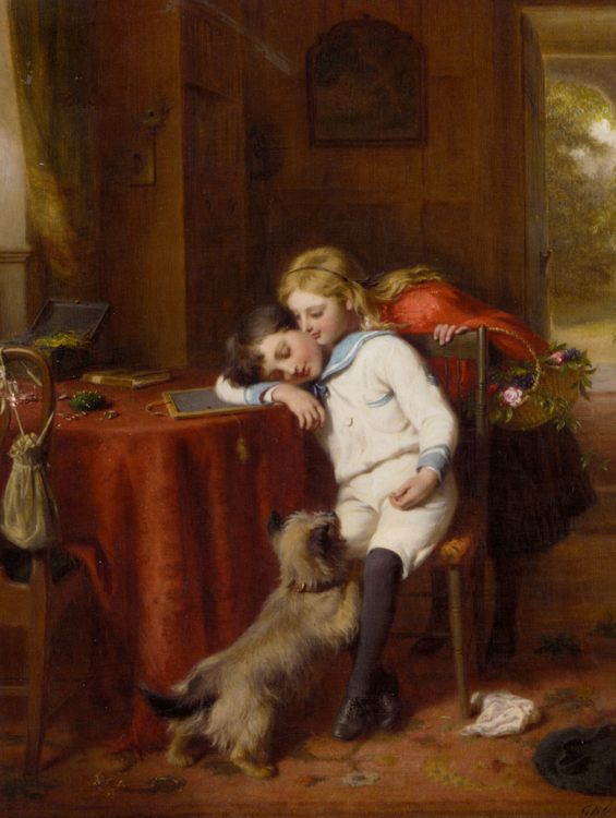 Forty Winks :: George Bernard O'Neill - Children's portrait in art and painting фото