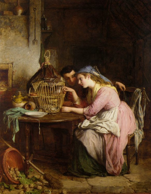 Wooing and Cooing :: George Smith - Romantic scenes in art and painting ôîòî