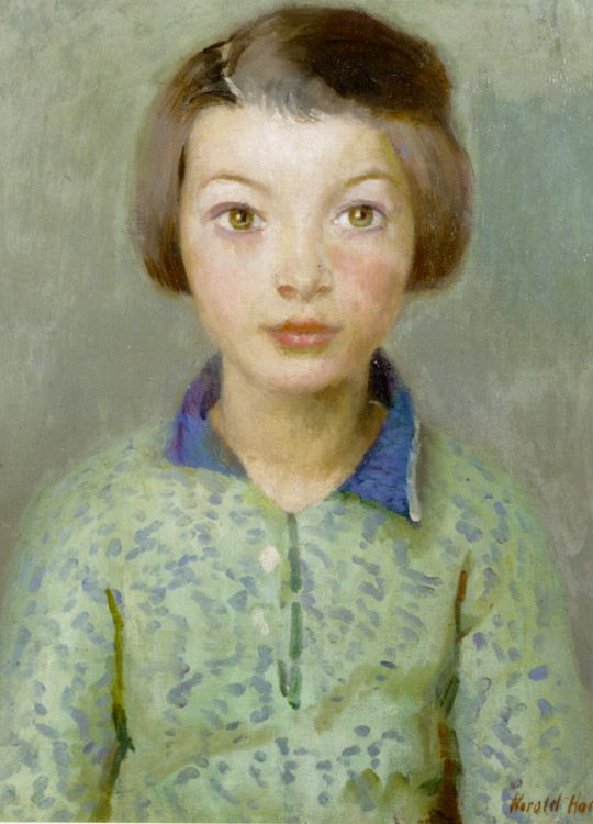 A Daughter of Newlyn :: Harold Harvey - Portraits of young girls in art and painting фото
