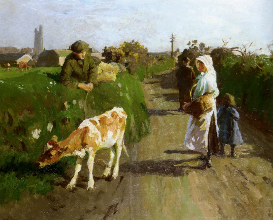 Near Penzance :: Harold Harvey  - Village life ôîòî