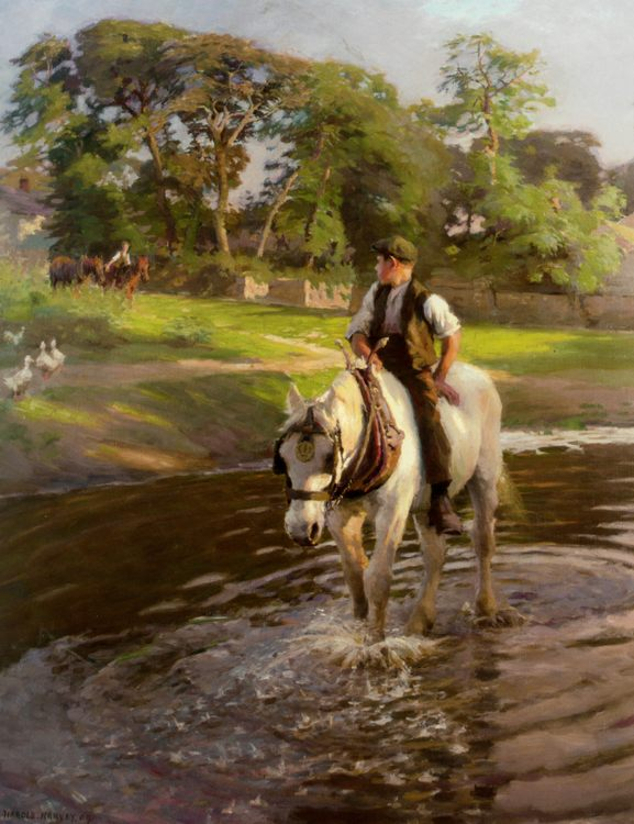 The Close of a Summers Day :: Harold Harvey - Horses in art фото