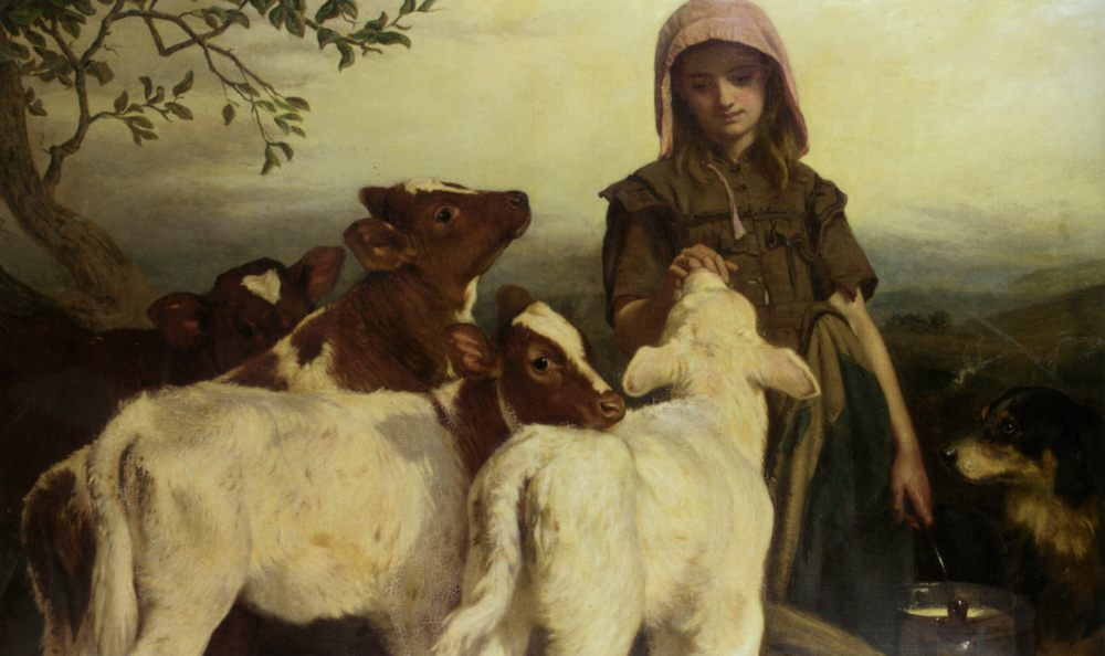 The Farmers Daughter :: Henry Hetherington Emmerson - Village life ôîòî