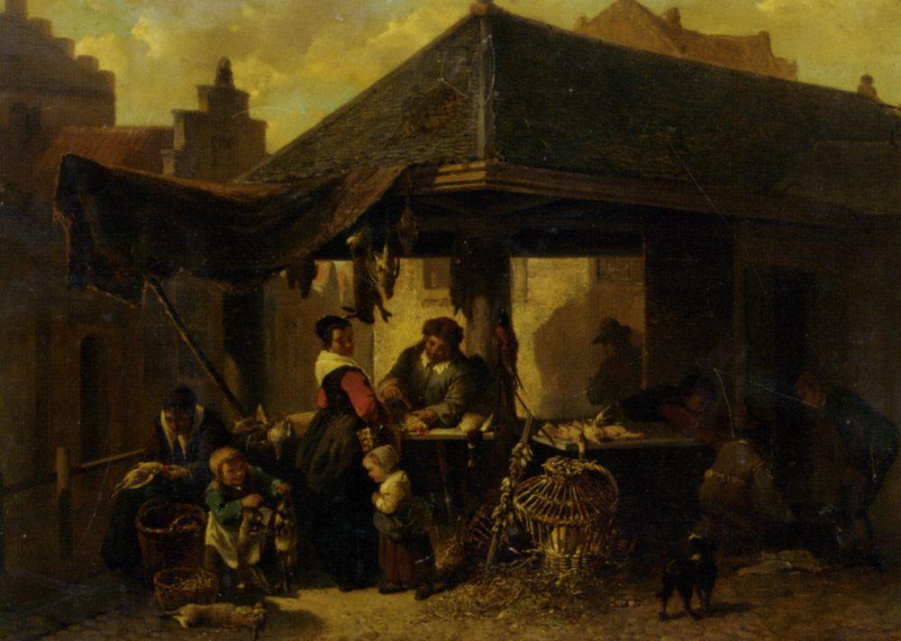 At the Butchers Market :: Johan Mari Ten Kate - Village life ôîòî