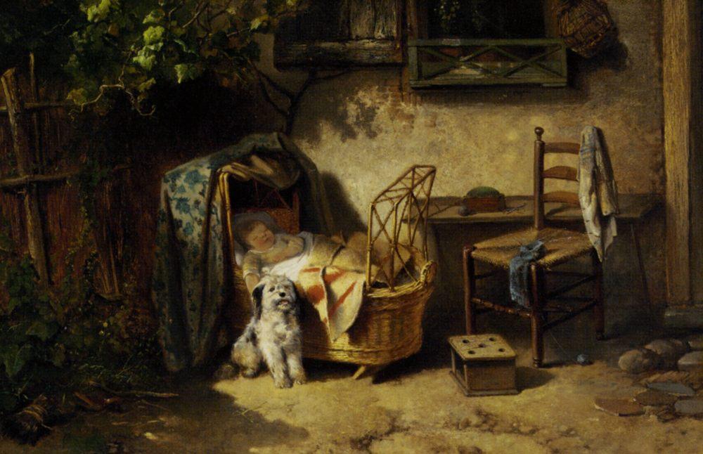 The Afternoon Nap :: Johan Mari Ten Kate  - Children's portrait in art and painting ôîòî