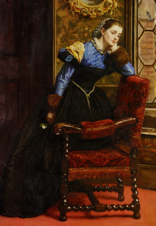 Swallow Swallow :: John Everett Millais - Interiors in art and painting фото