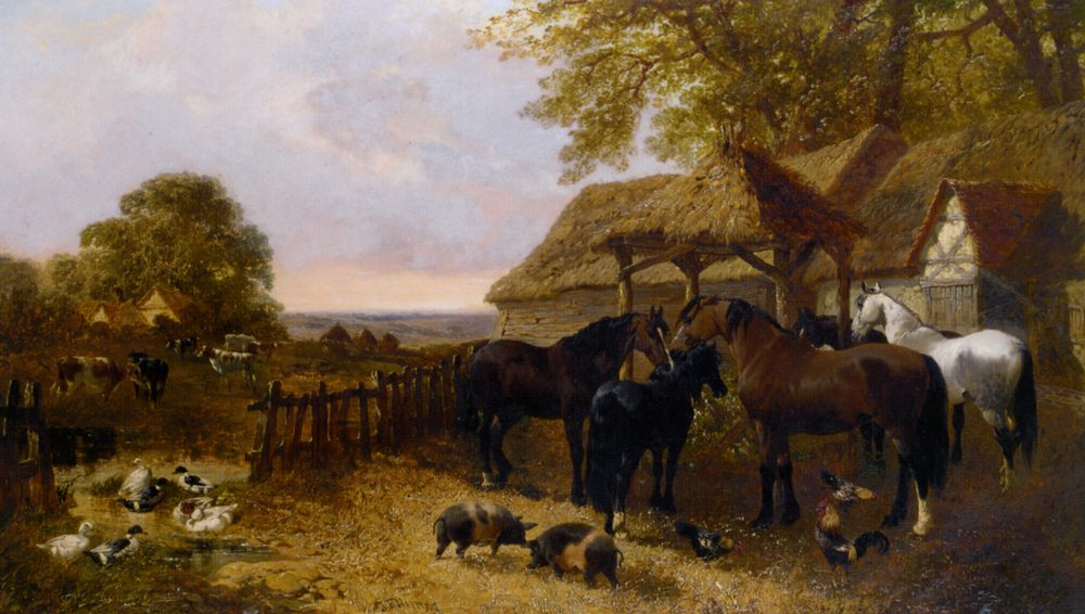 The Stable Yard  :: John Frederick Herring, Jnr. - Village life фото