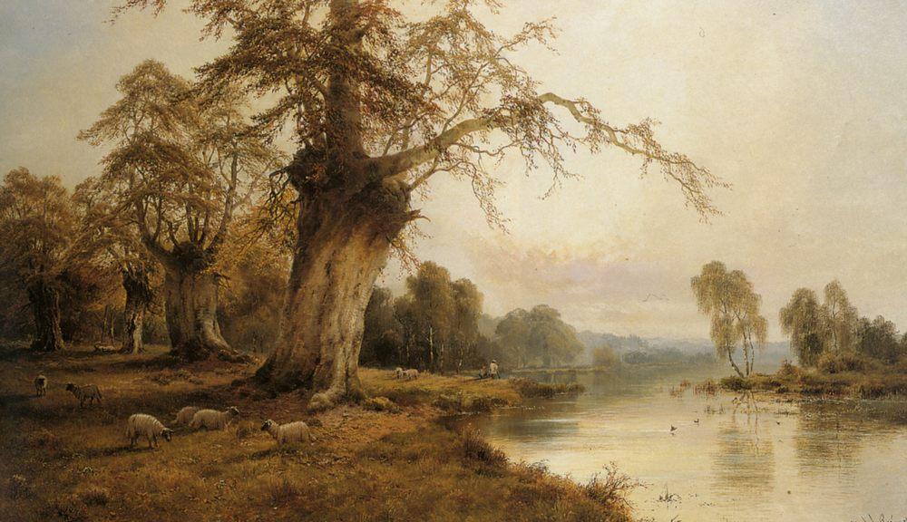 Silver Morning :: Alfred Fontville De Breanski - River landscapes ôîòî