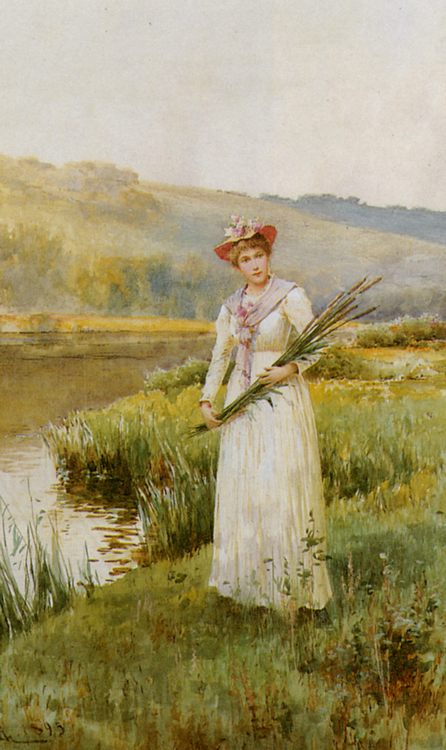 Across the Meadow :: Alfred Glendening - 7 female portraits ( the end of 19 centuries ) in art and painting фото