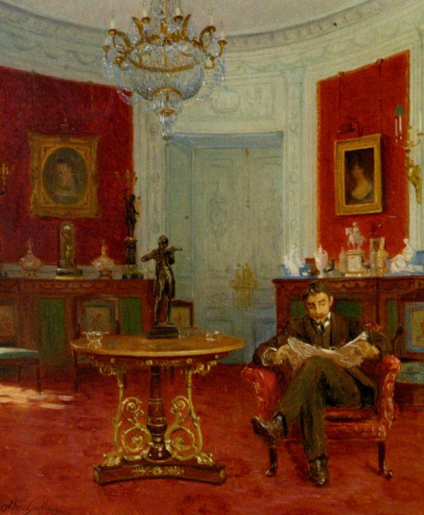 Self Portrait in an Interior :: Alfred Guillou - men's portraits 20th century ôîòî