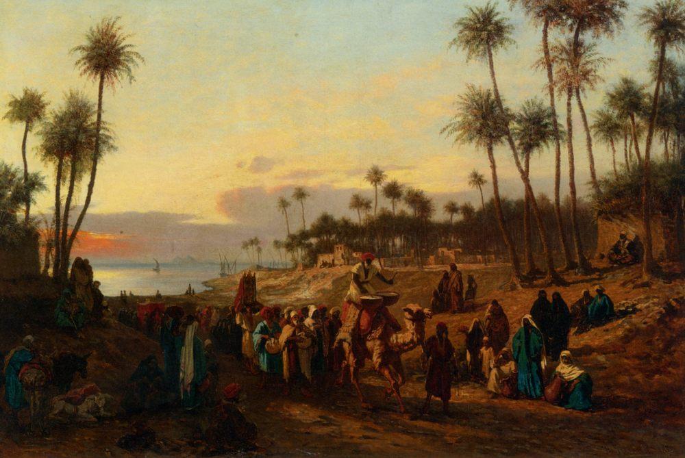 Larrivee de la Mariee :: Alois Schonn - scenes of Oriental life (Orientalism) in art and painting ôîòî