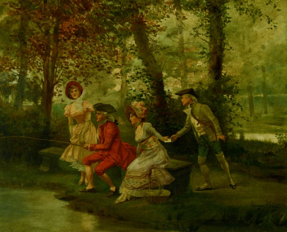The Love Letter :: Alonso Perez  - Romantic scenes in art and painting ôîòî