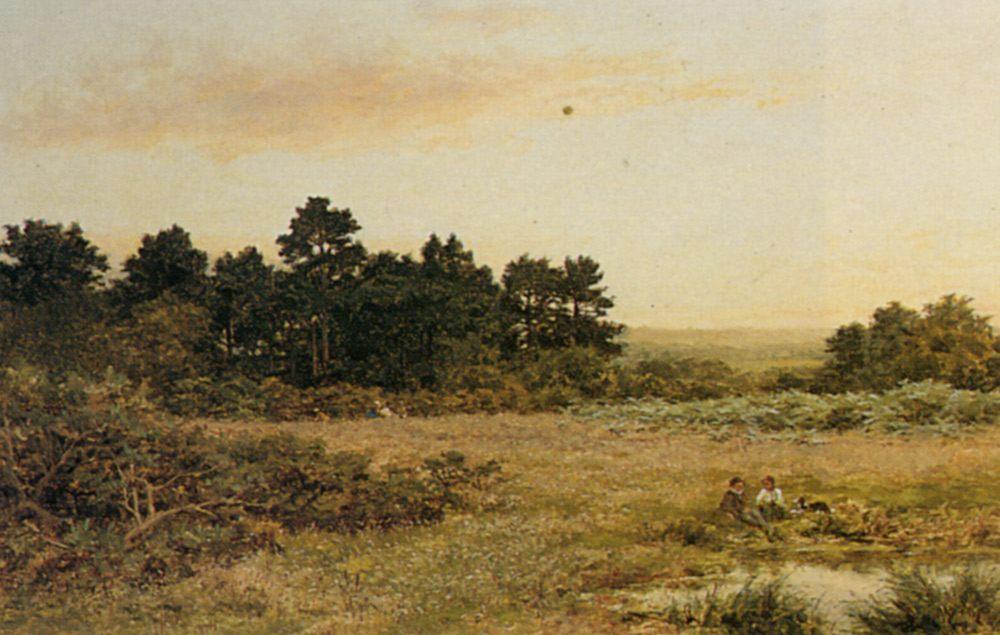 A Surrey Common Near Gornshall :: Benjamin Williams Leader - Summer landscapes and gardens ôîòî