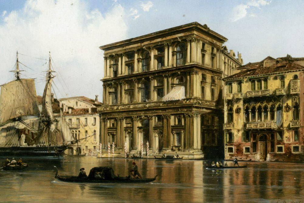 On the Grand Canal Venice :: Carlo Bossoli - Venice ôîòî