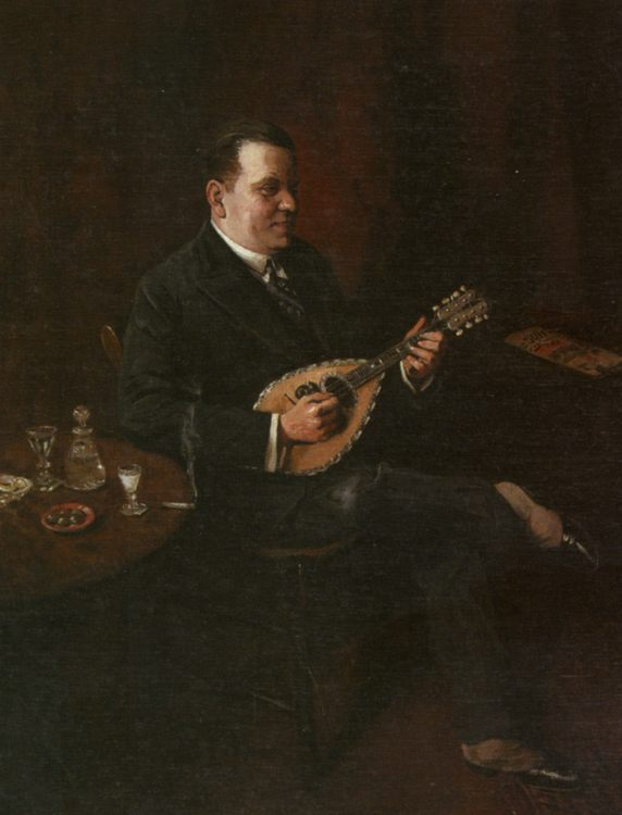 The Mandolin Player :: Charles Spencelayh - men's portraits 20th century фото