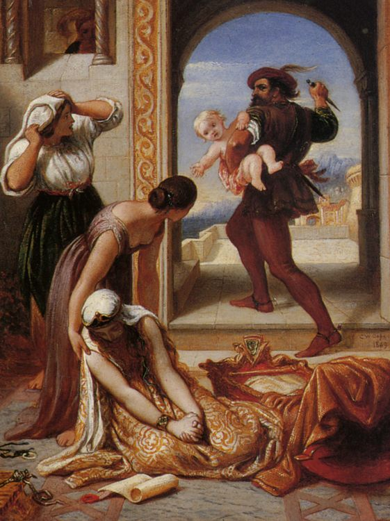 A Study for a Fresco in the House of Lords :: Charles West Cope - Rich interiors ôîòî