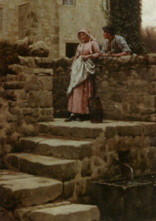 Sweethearts :: Edmund Blair Leighton - Romantic scenes in art and painting фото