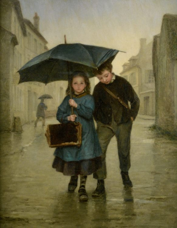 Going to School :: Edouard Frere - Children's portrait in art and painting фото