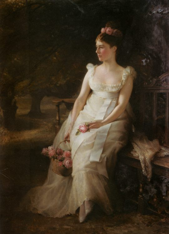 The sorrow and roses :: Edward Hughes - 7 female portraits ( the end of 19 centuries ) in art and painting фото
