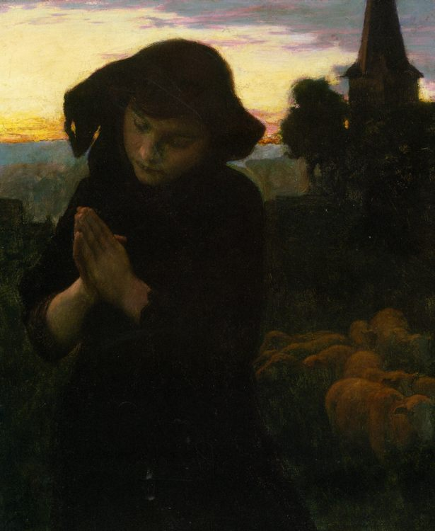 Angelus (prayer) :: Emile Friant - 7 female portraits ( the end of 19 centuries ) in art and painting фото