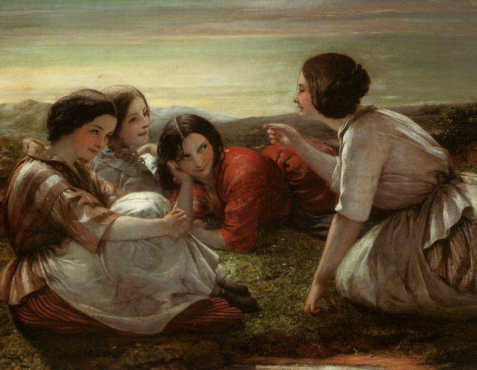 Plotting Mischief :: Frank Stone - Romantic scenes in art and painting ôîòî