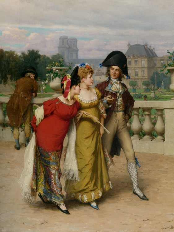 The Promenade :: Frederick Hendrik Kaemmerer  - Romantic scenes in art and painting фото