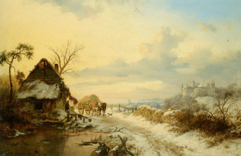 Returning Home :: Frederik Marianus Kruseman - winter landscapes ôîòî