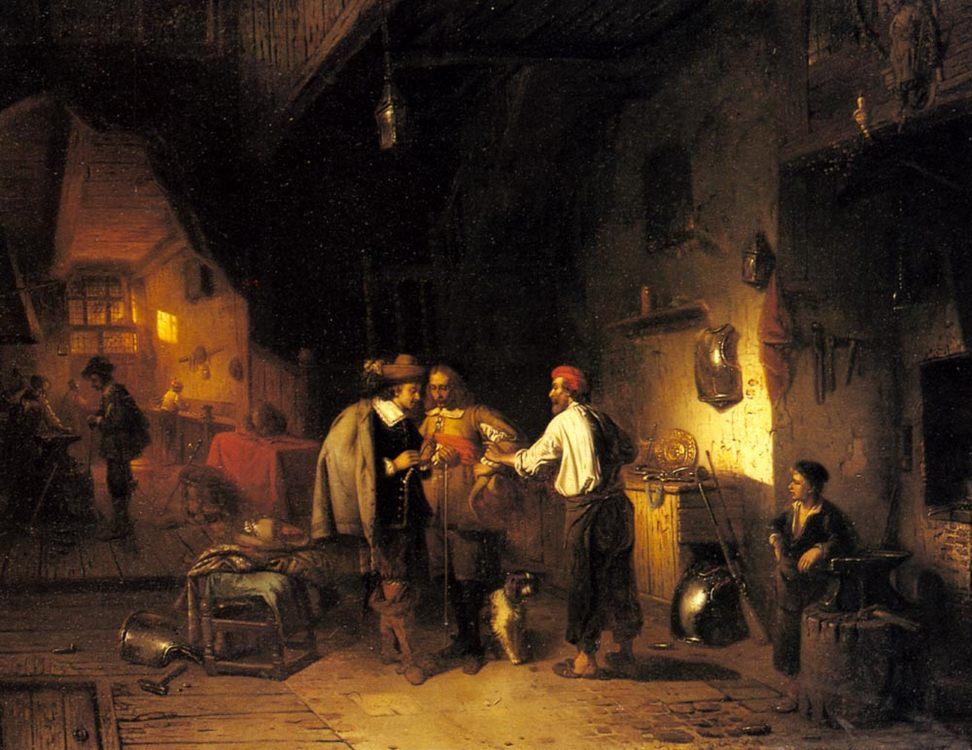 The Armor Shop :: Adrien Ferdinand De Braekeleer - History painting фото