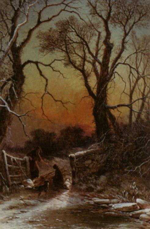 The Paddock Gate :: George Augustsus Williams - Sunset and sunrise, sundown ôîòî