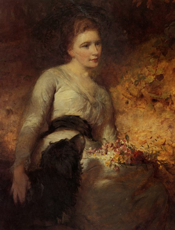 Jane Isabella Baird Villiers :: George Elgar Hicks - 7 female portraits ( the end of 19 centuries ) in art and painting фото