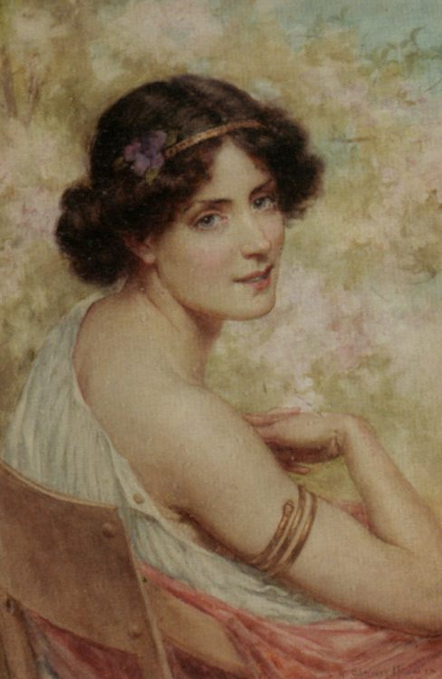 Spring :: George Sheridan Knowles - Antique beauties in art and painting фото