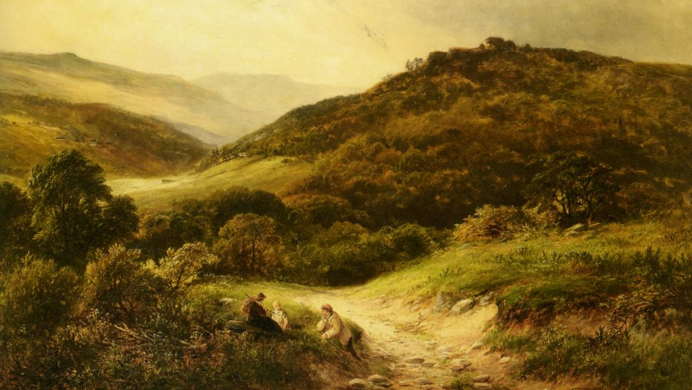 A Sandy Road Near Grundleford Bridge Derbyshire :: George Turner - Summer landscapes and gardens ôîòî