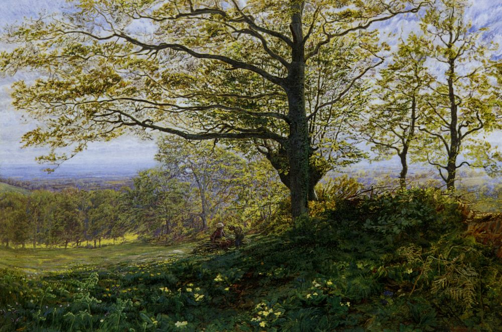 Gathering Firewood :: George Vicat Cole - Summer landscapes and gardens ôîòî