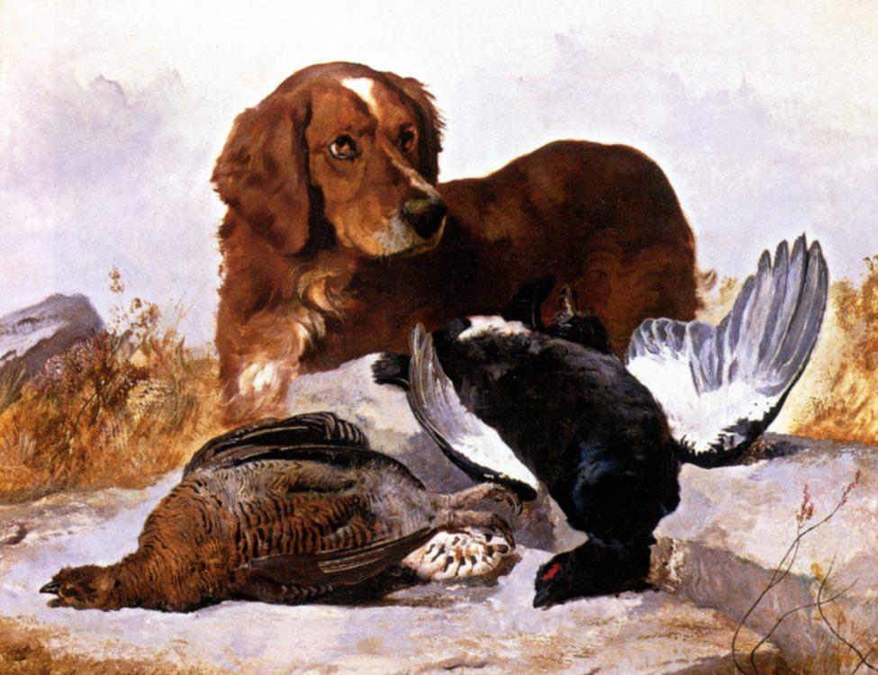 Settler with Game Birds :: George W. Horlor - Hunting scenes ôîòî