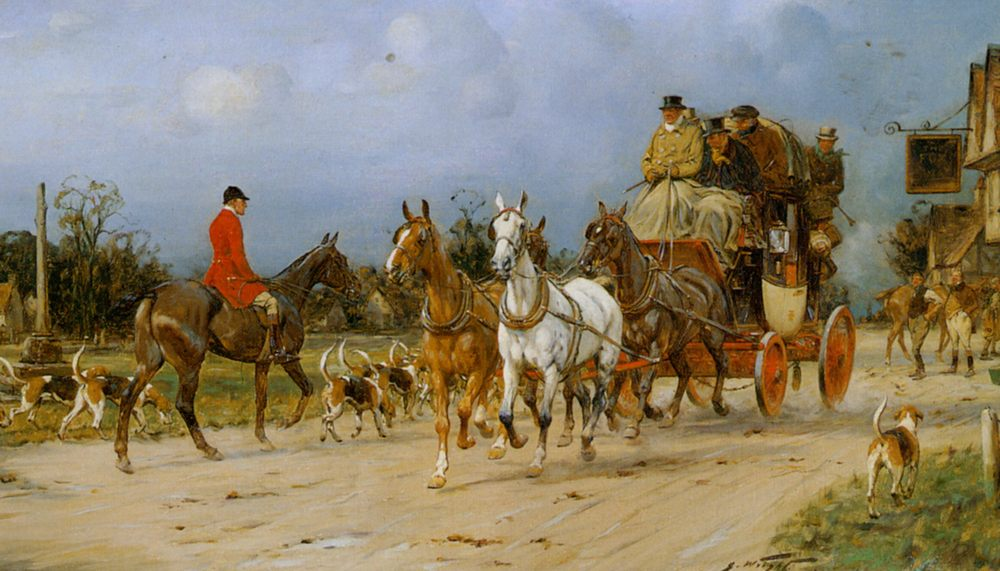 Outside the Kings Head :: George Wright  - Hunting scenes ôîòî