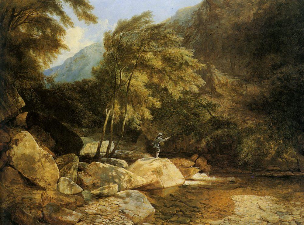 The Angler :: Henry John Boddington - Fishing scenes ôîòî