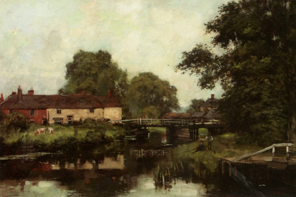 Woolhampton on the Kennet :: Henry John Yeend King  - Rural houses фото