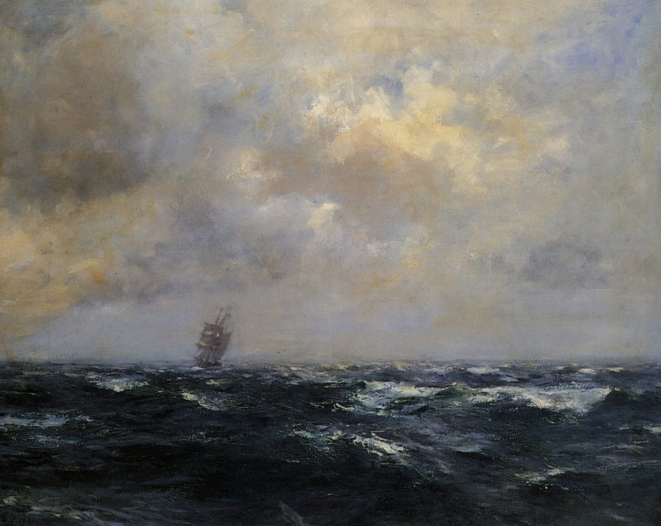 Outward Bound :: Henry Moore - Sea landscapes with ships фото
