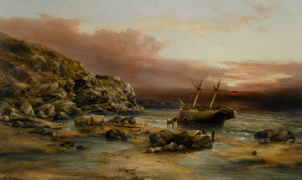 After the Storm :: Henry Redmore  - Seascape with ships фото