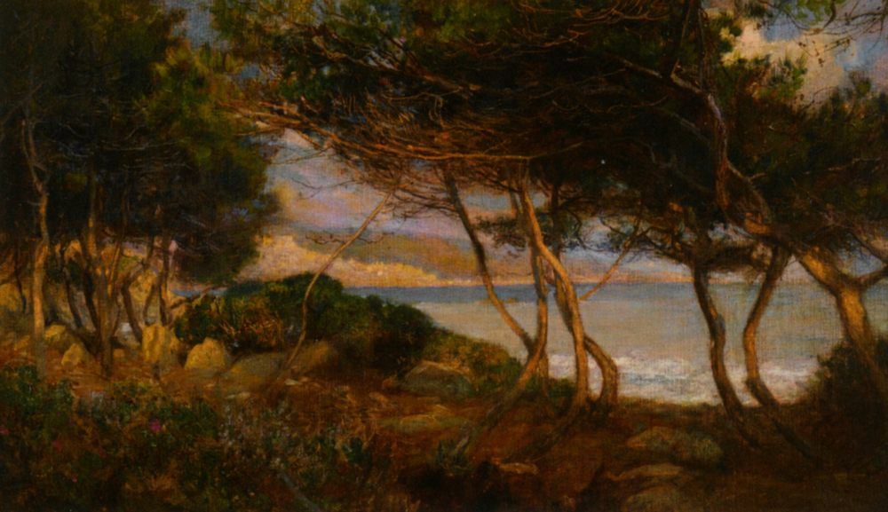 The Coast Near La Mortola :: Herbert Arnould Olivier - Coastal landscapes ôîòî