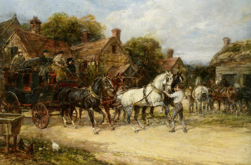 Changing Horses :: Heywood Hardy - Horses in art ôîòî