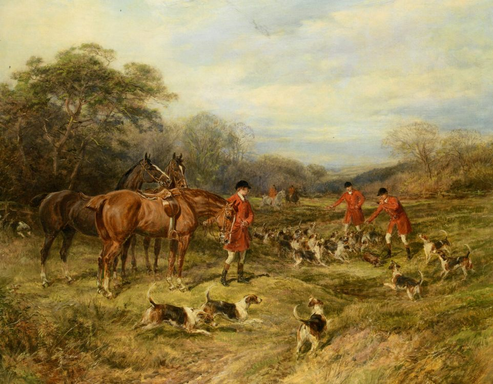 The Kill :: Heywood Hardy  - Hunting scenes ôîòî