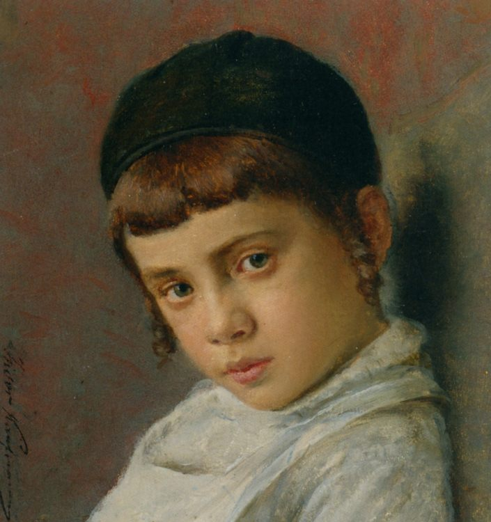Portrait of a Young Boy with Peyot :: Isidor Kaufmann - Portraits of young boys ôîòî
