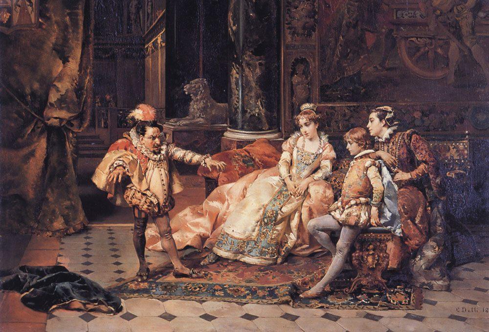 The Court Jester :: Cesare-Auguste Detti - Rich interiors фото