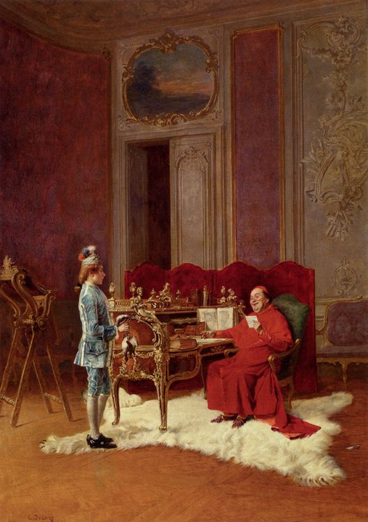 Game For The Cardinal :: Charles Edouard Edmond Delort - Rich interiors ôîòî