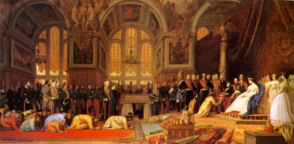 The Reception of the Siamese Ambassadors at Fontainebleau :: Jean-Leon Gerome - Rich interiors ôîòî