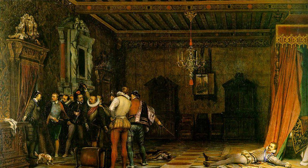 Assassination :: Paul Delaroche - Rich interiors фото
