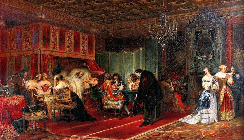 Cardinal Mazarin Dying :: Paul Delaroche - History painting ôîòî