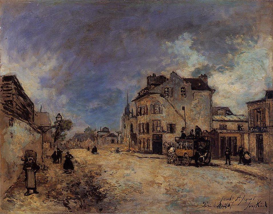 Faubourg Saint-Jacques, the Stagecoach :: Johan Barthold Jongkind - England фото